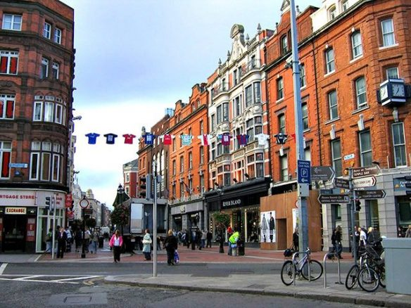 Main Shopping Street in Dublin