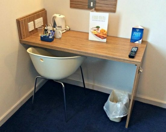 Desk and Chair in the Hotel Room