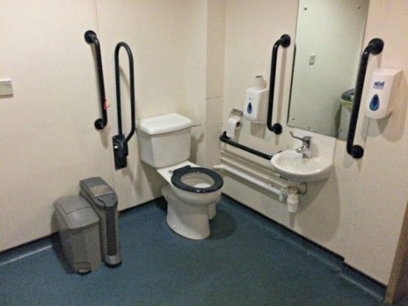 Disabled Toilet in the Travelodge Bar