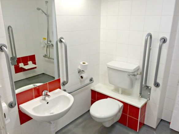 Disabled Toilet in Travelodge Hotel Room