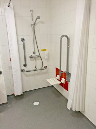 Wheelchair Accessible Bathroom in Travelodge