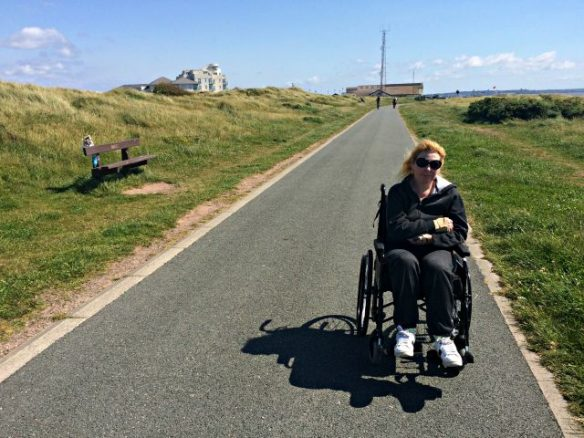 Bridget on Sefton Coastal Path