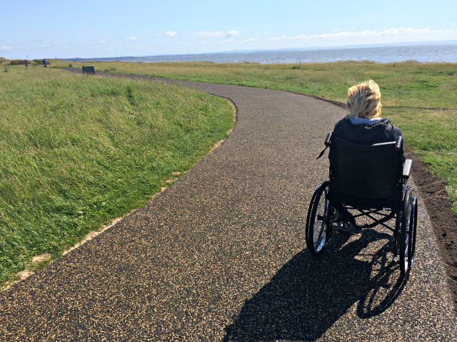The New Coastal Path in Crosby, Liverpool