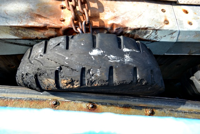 Tyre Getting Squashed by Ferry