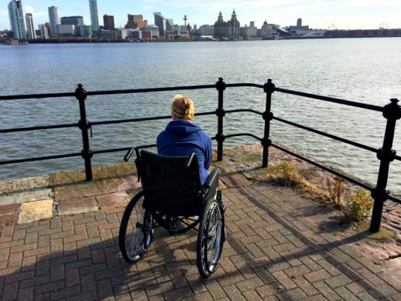 Bridget Looking Towards Liverpool