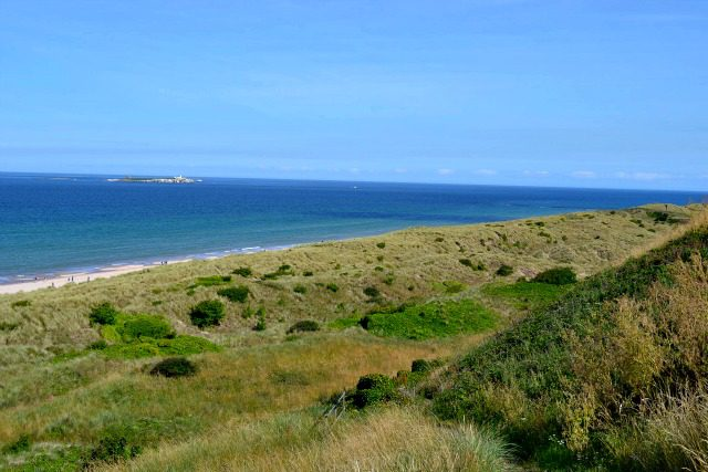 View Behind Bamburgh Castle