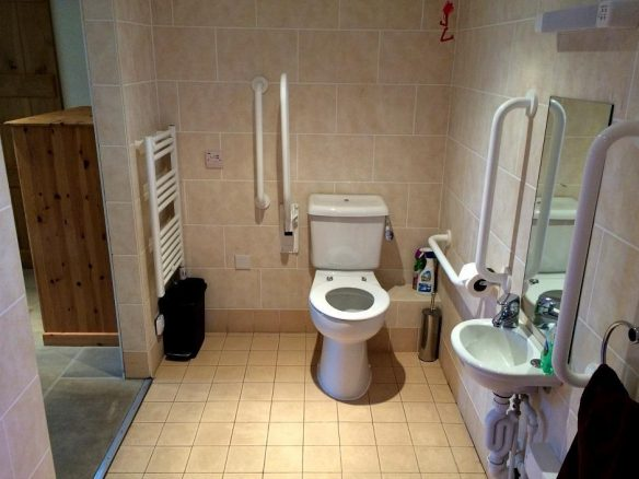 Accessible Toilet in Converted Barn