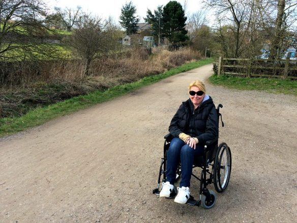 Wheelchair on Monsal Trail