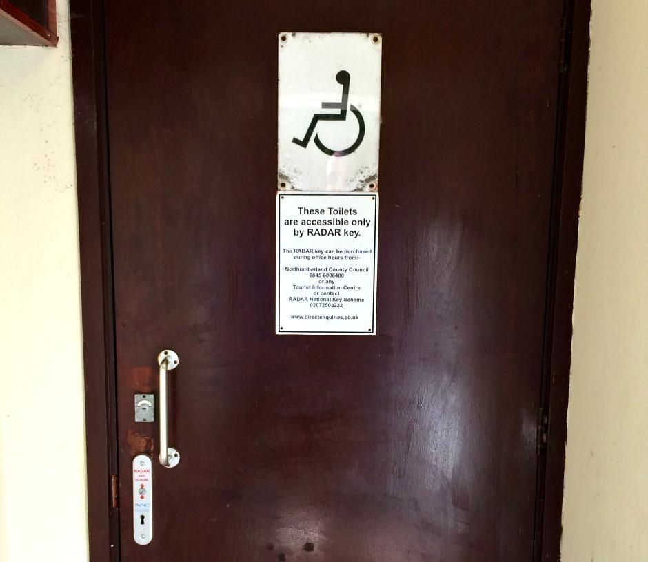 Disabled Toilet and Radar Key in Bamburgh