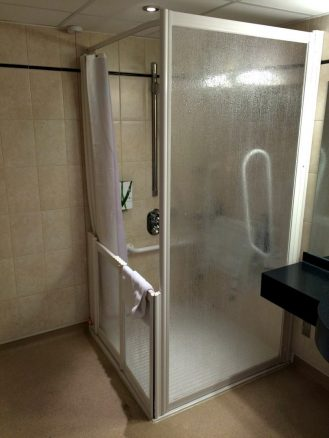 Accessible Shower in Premier Inn