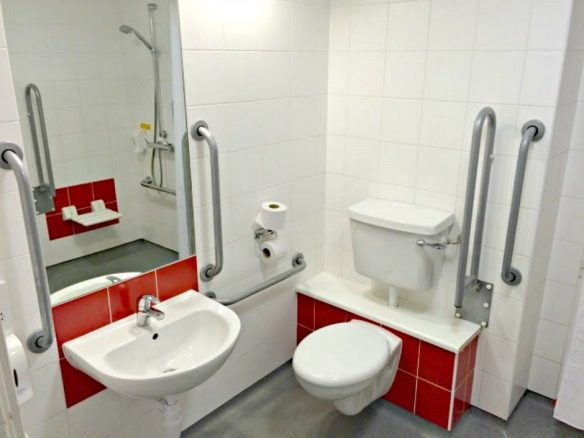 Disabled Toilet in Budget Hotel