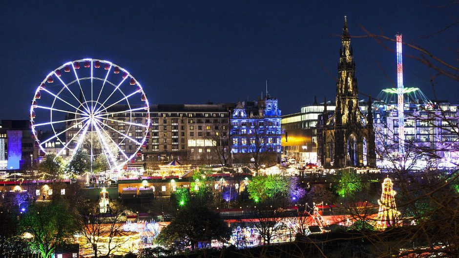World Famous Christmas Market in Edinburgh