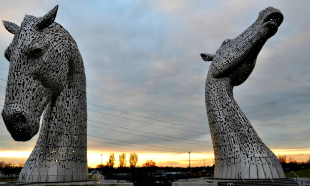 The Kelpies at The Helix Centre in Falkirk, Scotland