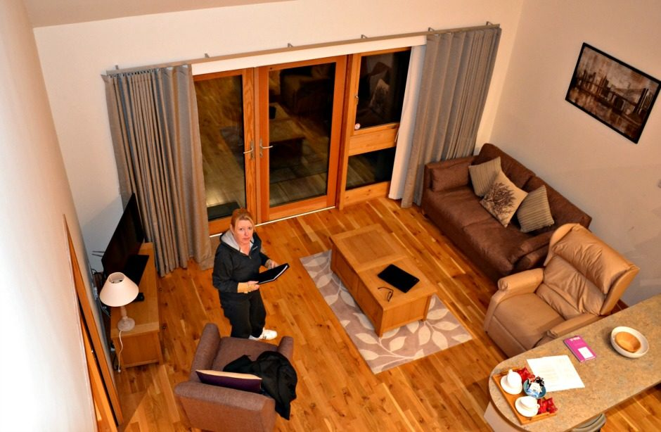 Looking Down Over the Living Area