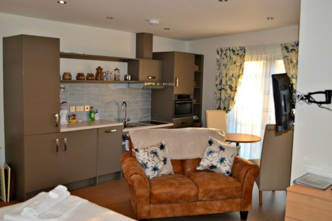 The Topaz Bedroom and Kitchen