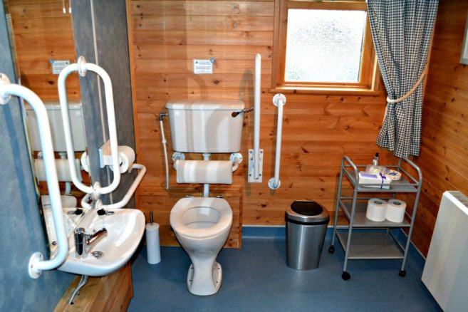 Disabled Toilet in Luxury Log Cabin
