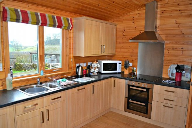 Disabled Friendly Kitchen in Log Cabin