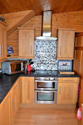 Full Hob and Microwave in Log Cabin