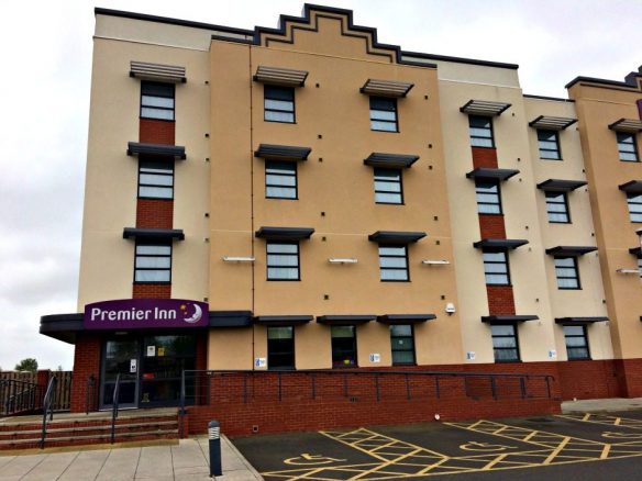 Disabled Parking at the Premier inn Hotel in Cleethorpes