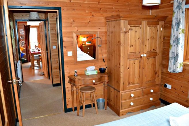 Spacious Wardrobe in Log Cabin