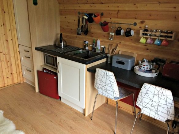 Kitchen in Camping Pod