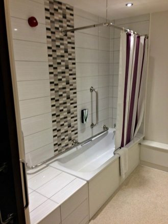 Accessible Bathroom In Hotel RoomReview The New Premier Inn Hotel In  Cleethorpes