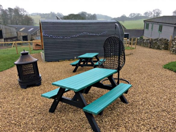 Picnic Benches at Hoe Grange Holidays