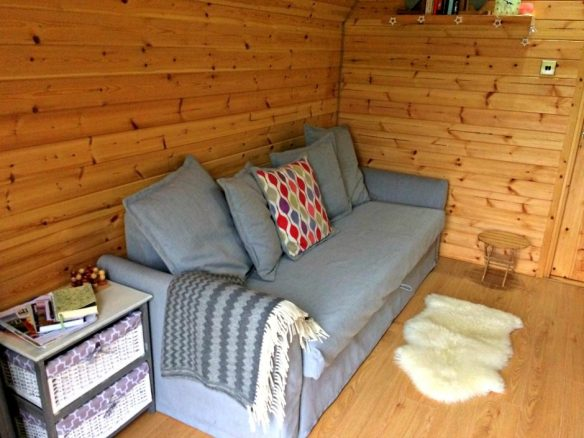 Pull Out Bed in Camping Pod