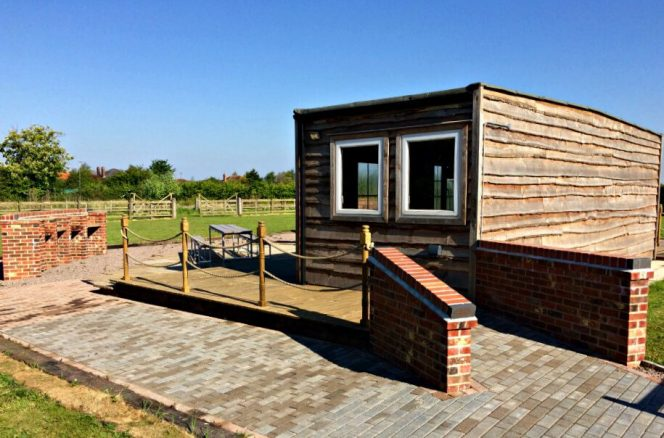 Wheelchair Accessible BBQ Area at Elms Farm Cottages