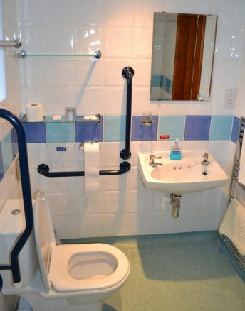 Accessible Toilet and Bathroom in Elm Cottage