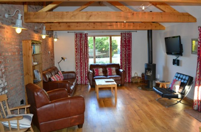 Living Room in The Stables Holiday Cottage