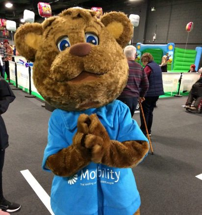Motability Bear at Event City