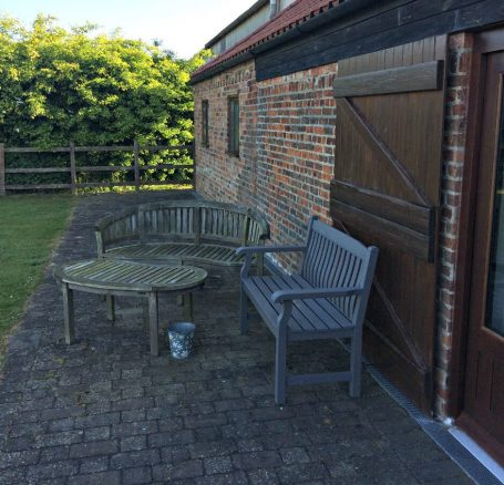 Outdoor Seating in Elm Cottage