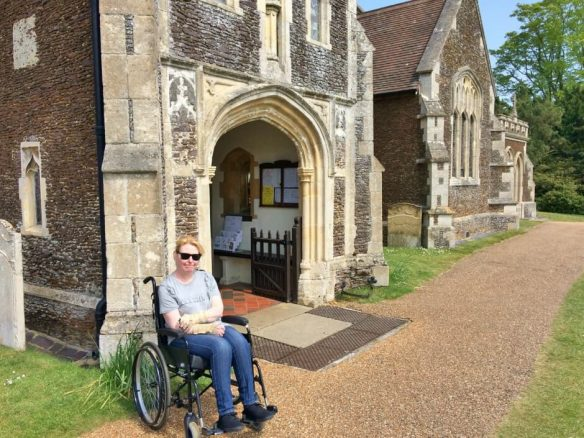 Bridget Outside Sandringham Church