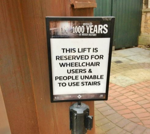 Wheelchair Access to Lincoln Castle Walls