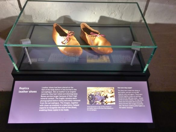 Replica Leather Shoes in Lincoln Castle Museum