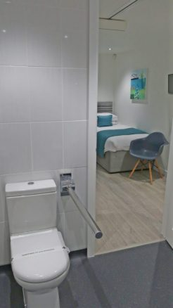 Accessible Wet Room in Gwel an Mor Holiday Lodge