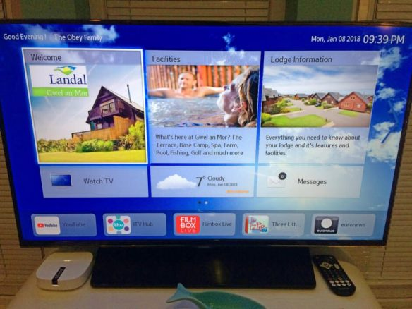 Interactive TV in Gwel an Mor Holiday Lodge