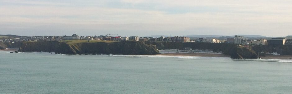 View of Newquay Harbour in Cornwall