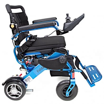 Blue Folding Electric Wheelchair