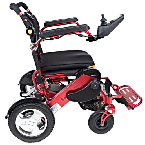 Red Folding Electric Wheelchair