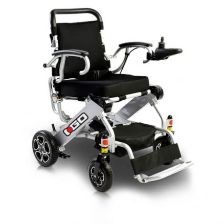 Silver Folding Electric Wheelchair