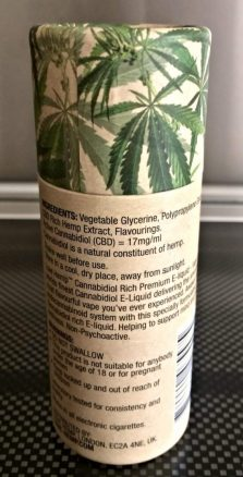 A List of Ingredients for CBD E-Liquid