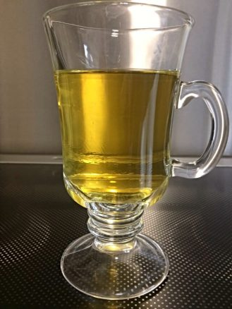 Hemp Tea in a Clear Glass